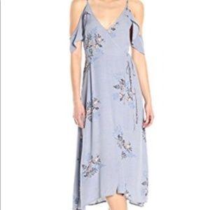 ASTR cold shoulder wrap dress